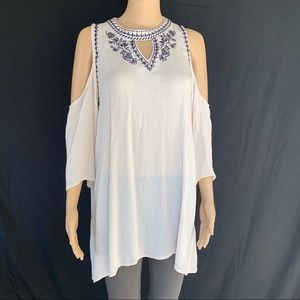 She + Sky Cold Shoulder Tunic or Dress, Size Small